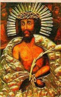 Obraz przedstawia Chrystusa Cierniem Koronowanego